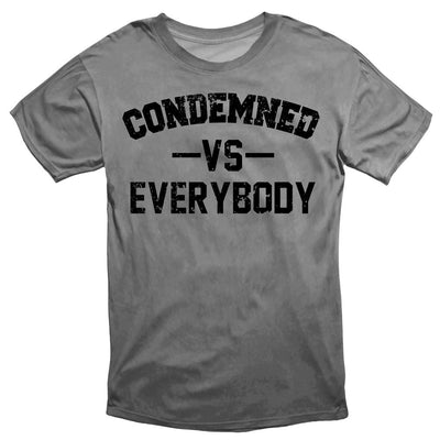 Condemned Labz Vs Everybody Tee Grey APPAREL Condemned Labz