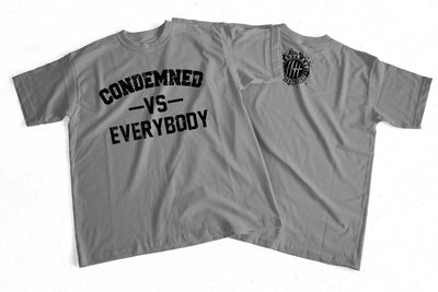 Condemned Labz Vs Everybody Tee Grey APPAREL Condemned Labz SMALL