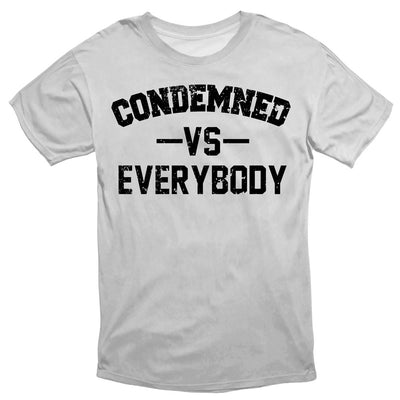 Condemned Labz Vs Everybody Tee White APPAREL Condemned Labz SMALL