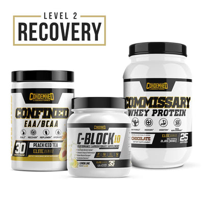Level 2 Recovery Condemned Labz Peach Ice Tea Chocolate Lemon Lime