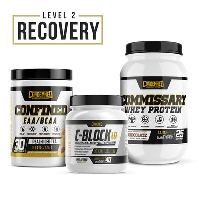 Level 2 Recovery Condemned Labz Peach Ice Tea Chocolate Unflavored