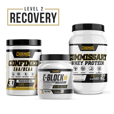 Level 2 Recovery Condemned Labz Peach Ice Tea Vanilla Fruit Punch