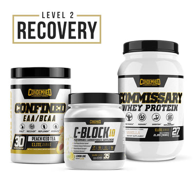 Level 2 Recovery Condemned Labz Peach Ice Tea Vanilla Lemon Lime