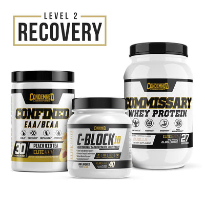 Level 2 Recovery Condemned Labz Peach Ice Tea Vanilla Unflavored