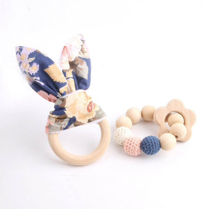 2 Piece Wooden Teether Set