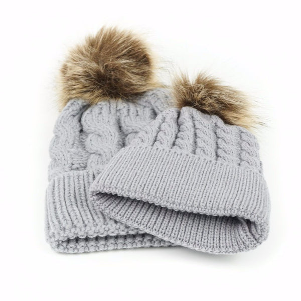 Mommy   Me Matching Knitted Hat Set e4ac77fd123