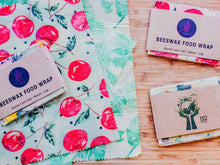 Load image into Gallery viewer, Cherries Beeswax Wraps Set