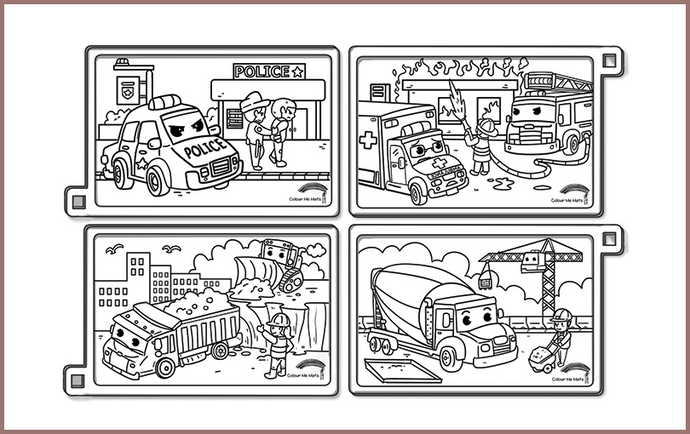Vehicles silicone colouring mats