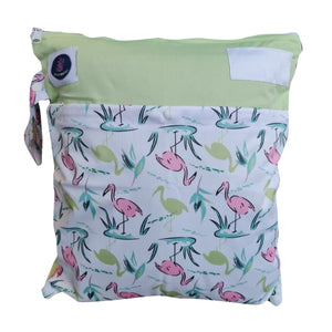 Flamingos waterproof wet bag