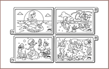 Load image into Gallery viewer, Mermaids silicone colouring mats