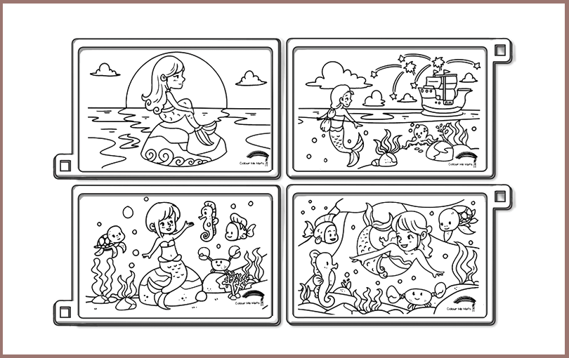 Mermaids silicone colouring mats