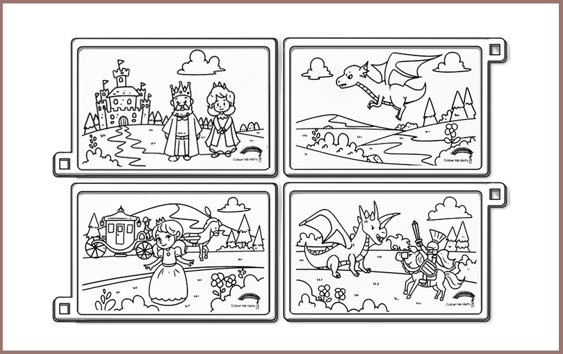 Fairy tale silicone colouring mats