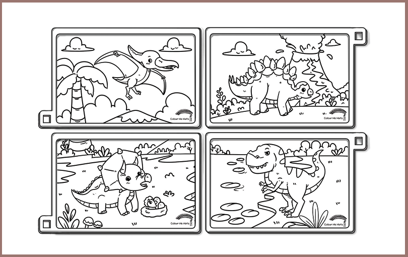 Dinosaurs silicone colouring mat