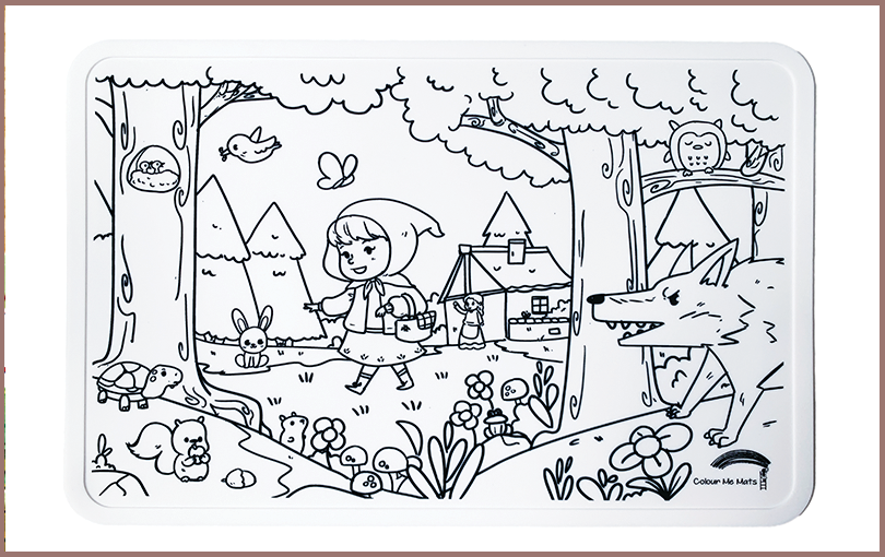 Red Riding Hood silicone colouring mat