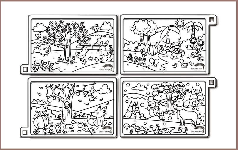Four seasons silicone colouring mat