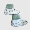 Flower Power Booties, Cream,Free Size - inkahaani