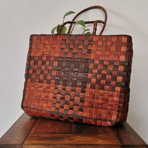 Cross-Stitch Bag - Brown - inkahaani