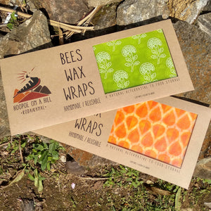 Beeswax wraps set of 3 - inkahaani