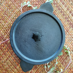 "Cast Iron Appakal with lid 9"" - inkahaani"