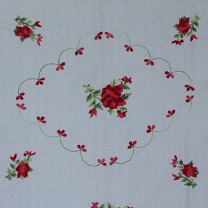 English Rose in Khara Hand embroidered bed linen - inkahaani