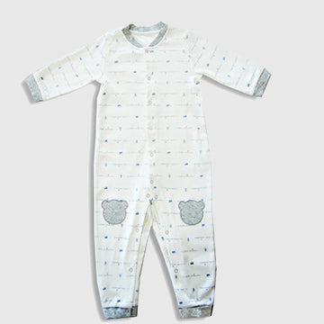 Little Crown, Sleepsuit, Grey - inkahaani