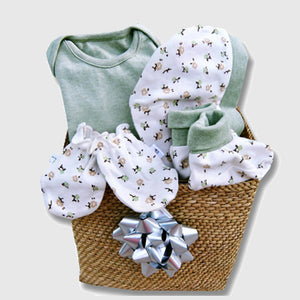 Nature's baby gift hamper, green - inkahaani