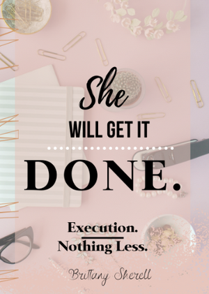 She Will get it DONE Goal-Setting Journal