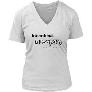 Intentional Woman  V-Neck T-shirt