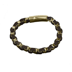 Arizona Mens Gold Bracelet