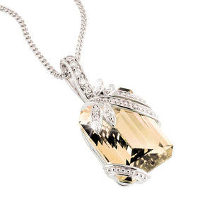 Butterfly Champagne Pendant