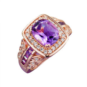 Amethyst Rose Ring