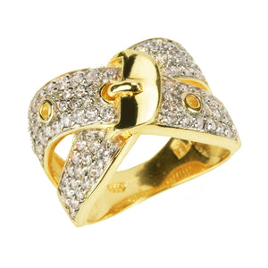 Buckle Couture Gold Ring