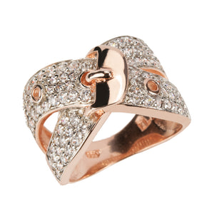 Buckle Couture Rose Gold Ring