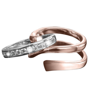 Twister Rose Gold Ring