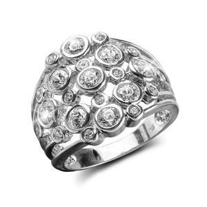 Champagne Fizz Rhodium Ring