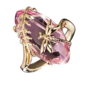 Pink Dragonfly Collection Ring