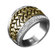 Men's Basket Weave Ring