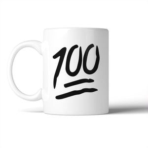 100 Points Mug Ceramic Coffee Mugs Gift For Christmas Birthday - Apparel & Accessories