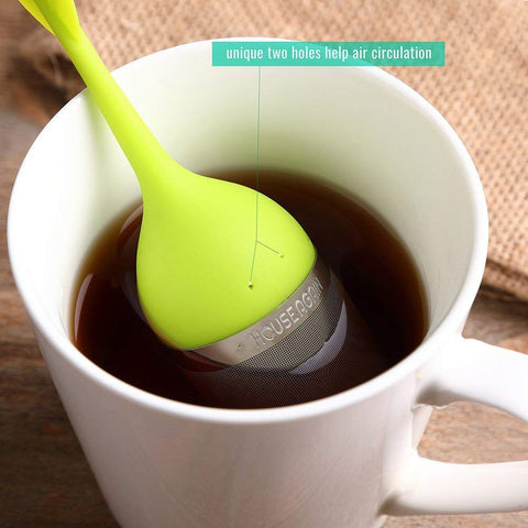 Image of Tea Infuser with Drip Tray - 4 Pack