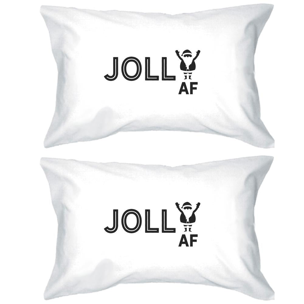 Jolly Af White Pillowcases