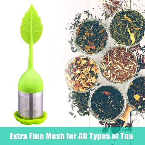 Tea Infuser with Drip Tray - 4 Pack