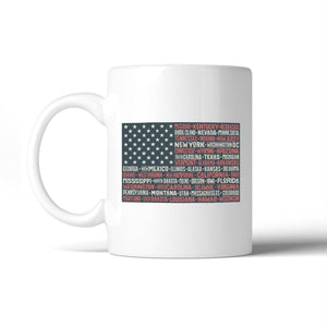 50 States Us Flag American Flag Coffee Mug Microwave Dishwasher Safe - Apparel & Accessories