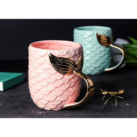 Mermaid Coffee Mug Set 14 oz