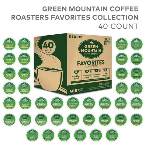 Image of Green Mountain Coffee Keurig Single-Serve K-Cup Sampler 40 Count Variety Pack