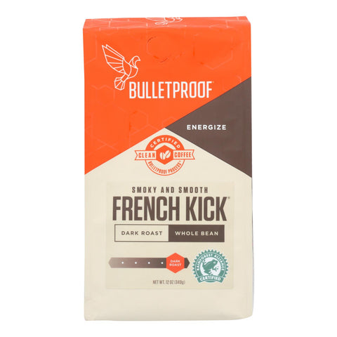 Bulletproof Coffee - French Kick Whole Bean - Case Of 6 - 12 Oz.