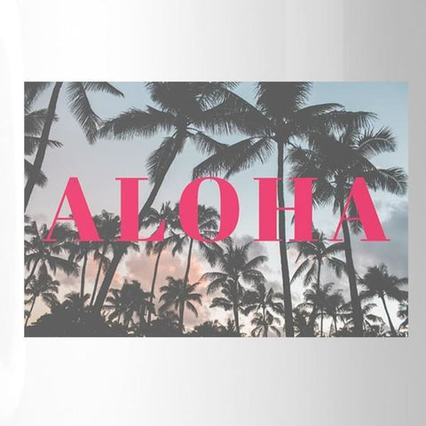 Aloha Coffee Mug Summer Beach Sunset Unique Design Mugs For Gifts - Apparel & Accessories