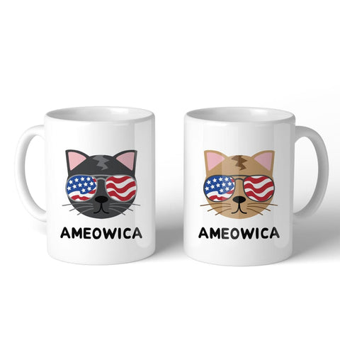 Ameowica 11oz Funny 4th Of July Decorative Gift Mug For Cat Lovers - Apparel & Accessories