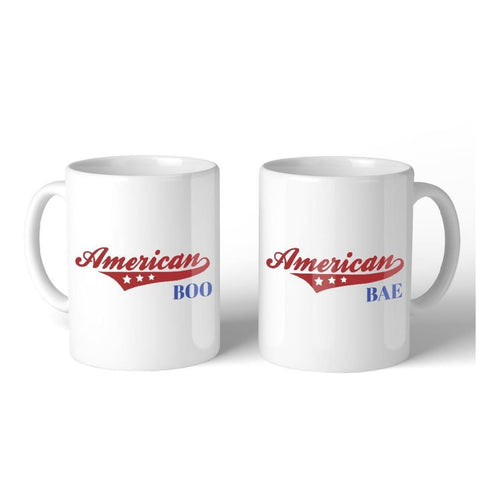 American Boo Bae 11oz Matching Couple Gift Mugs Couple Gift Set - Apparel & Accessories