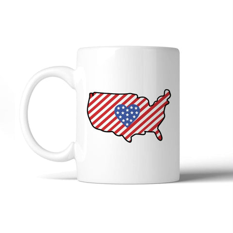 American Flag Patterned USA Map Coffee Mug Gift Ideas For Army Dads - Apparel & Accessories