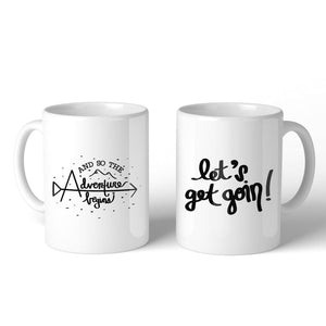 And So The Adventure Begins White Mug - Apparel & Accessories